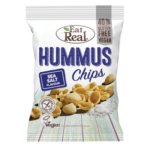 EAT REAL HUMMUS CHIPS SEA SALT 135G -