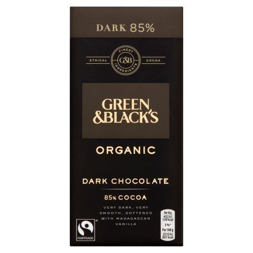 GREEN & BLACKS DARK CHOCOLATE 85 90G BIO