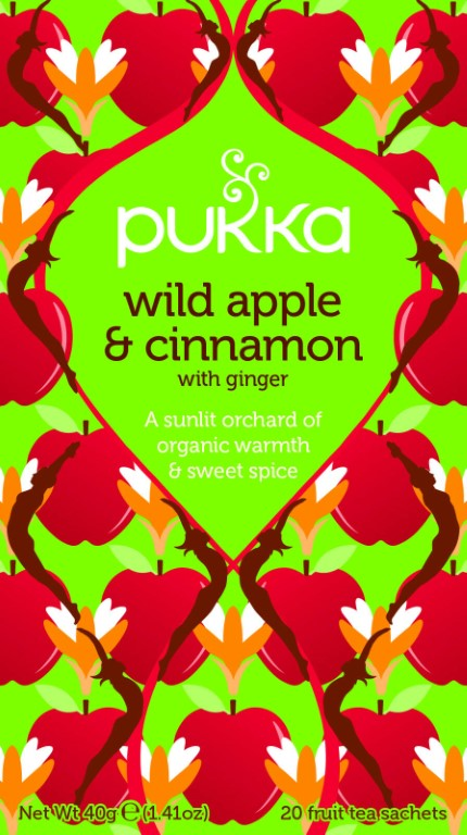 PUKKA WILD APPLE CINNAMON TEA 20 BAGS BIO