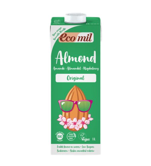 ECOMIL ALMOND MILK WITH AGAVE 1L BIO