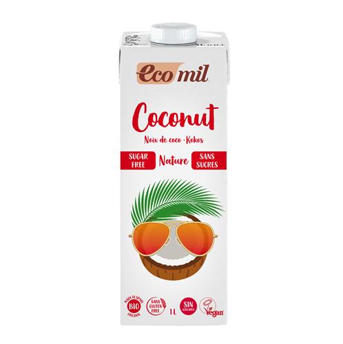 ECOMIL COCONUT MILK SUGAR FREE 1L