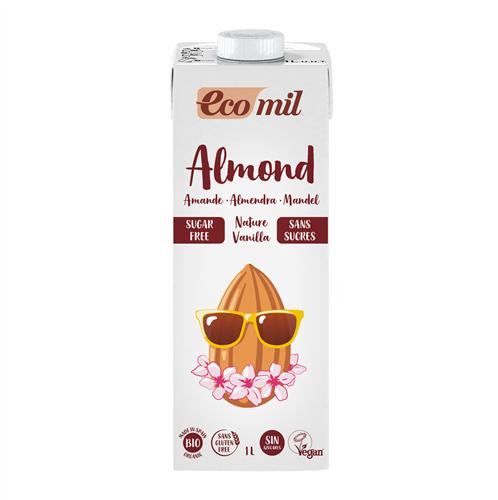 ECOMIL ALMOND MILK ΝΟ SUGAR 1L BIO