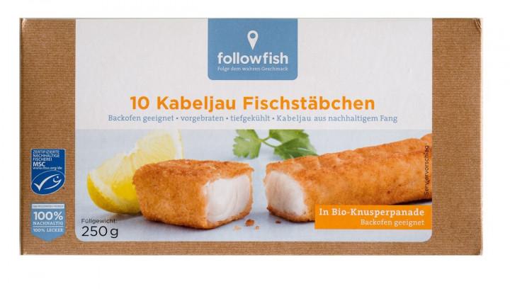FOLLOWFISH FISH FINGERS 10X25 250G BIO