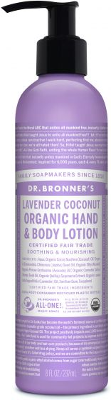 DR. BRONNERS HAND BODY LOTION LAVENDER 237ML