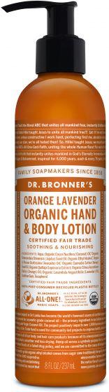 DR. BRONNERS HAND BODY LOTION ORANGE 237ML