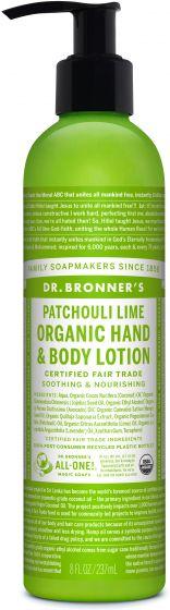 DR. BRONNERS HAND BODY LOTION LIME 237ML