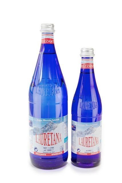 LAURETANA SPARKLING MINERAL WATER GLASS BOTTLE 1L