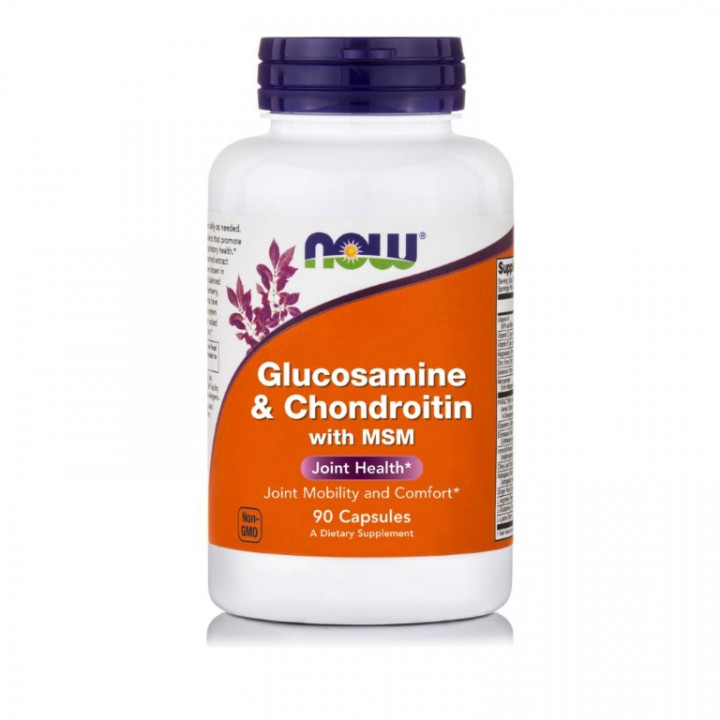 NOW GLUCOS 500/CHOND 400/MSM - 90 Capsules