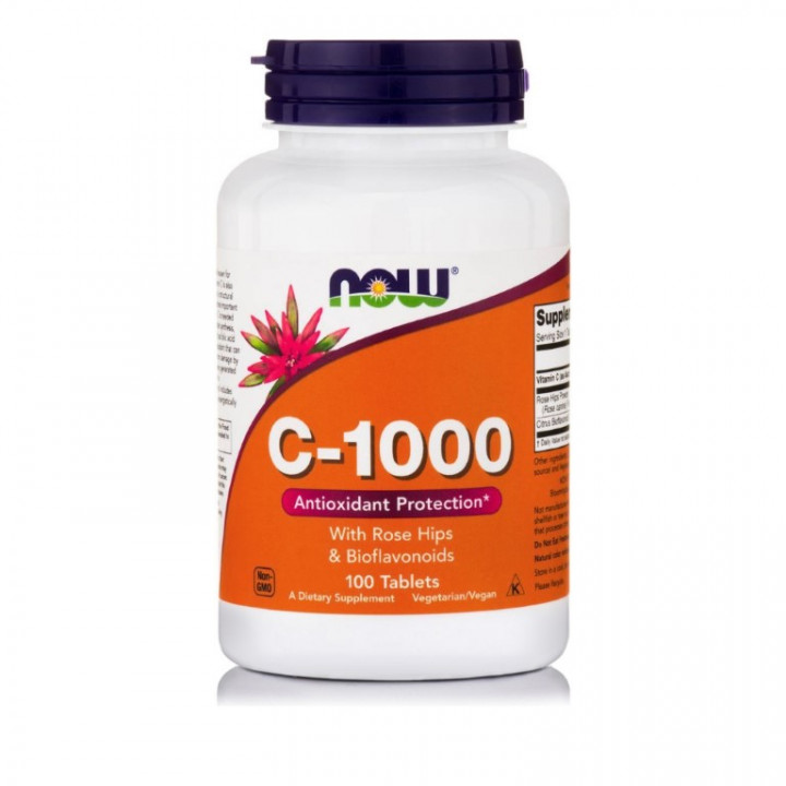 NOW C-1000 WITH ROSE HIPS 100 tablets