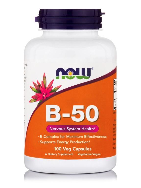 NOW B 50 - 100 capsules