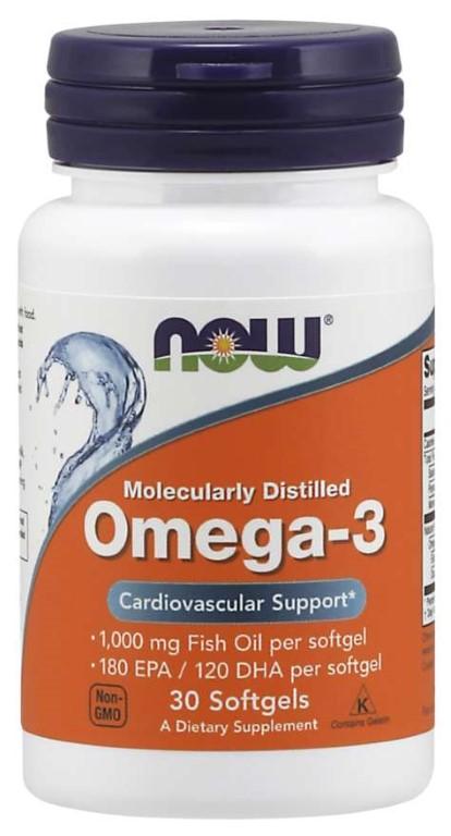 NOW OMEGA 3 180EPA 120DHA - 100 softgel capsules