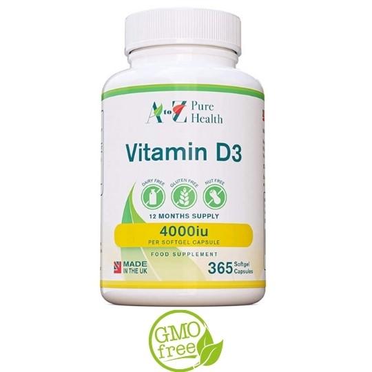 A TO Z VITAMIN D3 4000IU 365 capsules