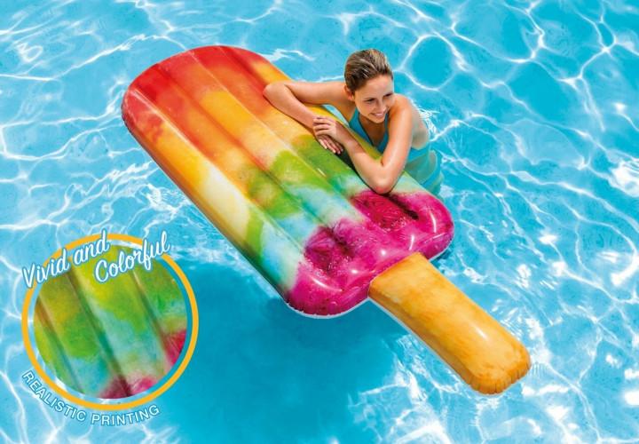 Rainbow Popsicle Float