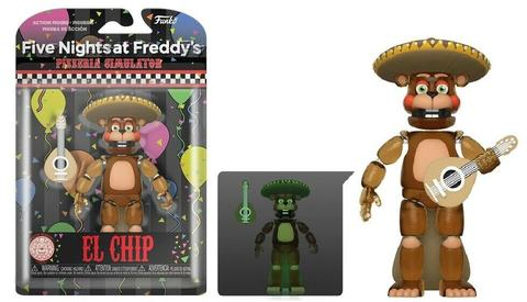 FUNKO FRIDAY NIGHT AT FREDDY'S PIZZA SIM - EL CHIP - GLOW IN THE DARK ACTION FIGURE