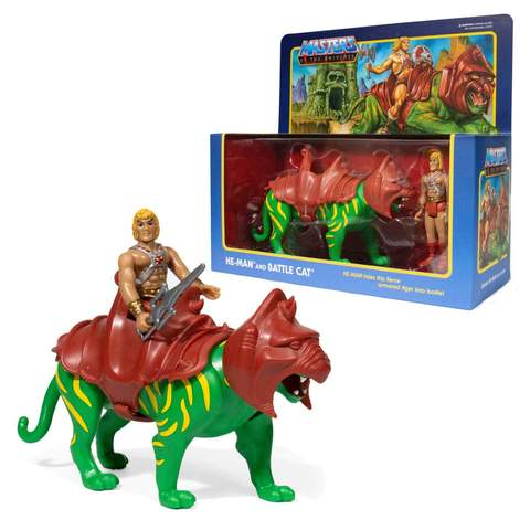 MASTER OF THE UNIVERSE : HE MAN AND BATTLE CAT - ACTION FIGURE
