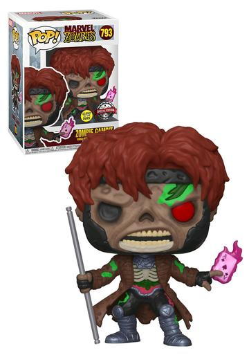 POP! MARVEL ZOMBIES - ZOMBIE GAMBIT (SPECIAL EDITION - GLOWS IN THE DARK ) # 793 - Figure