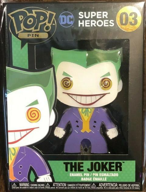 FUNKO POP! DC SUPER HEROES - JOKER #03 LARGE ENAMEL PIN