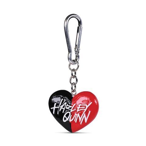 HARLEY QUINN (HEART) - 3D KEYCHAIN