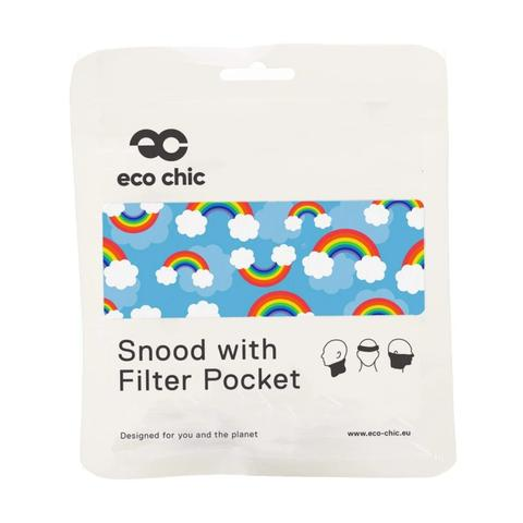 ECO CHIC - REUSABLE SNOOD - RAINBOW