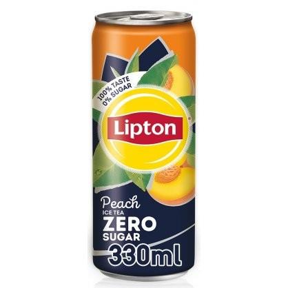Lipton Peach Zero Can 330ml