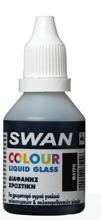 SWAN COLOUR LIQUID GLASS 30ML ΜΑΥΡΟ (ΧΡΩΣΤΙΚΗ ΔΙΑΦΑΝΗ ΥΓΡΟΥ ΓΥΑΛΙΟΥ)