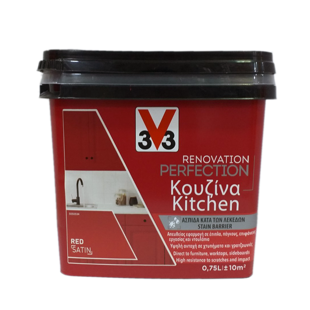 RENOVATION PERFECTION KITCHEN PAINT V33 RED 750ML