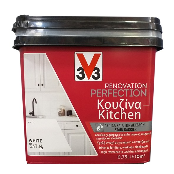 RENOVATION PERFECTION KITCHEN PAINT WHITE 750ML V33