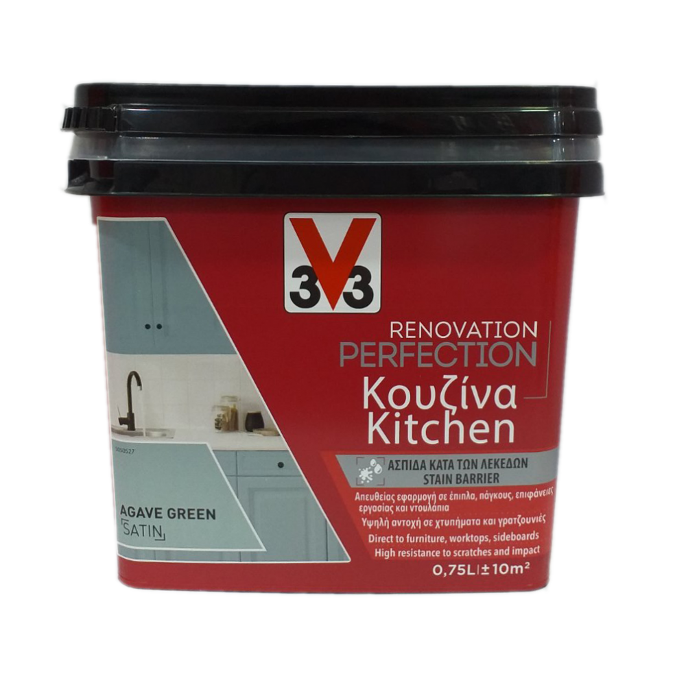RENOVATION PERFECTION KITCHEN PAINT AGAVE GREEN 750ML V33