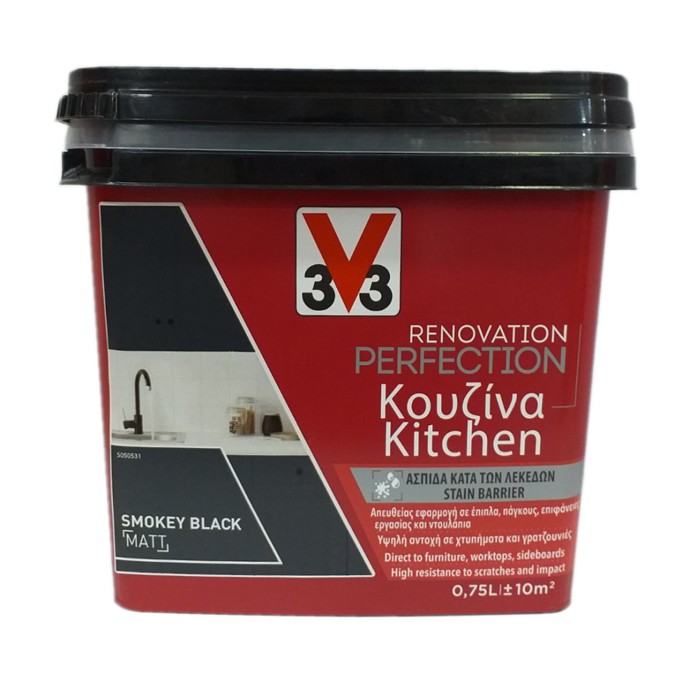RENOVATION PERFECTION KITCHEN PAINT SMOKEY BLACK 750ML V33
