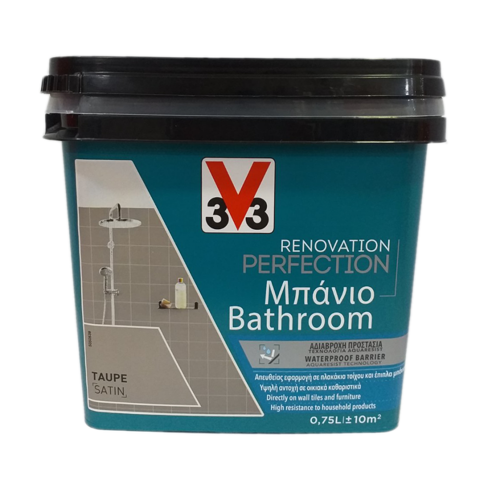 RENOVATION PERFECTION BATHROOM PAINT TAUPE 750ML V33