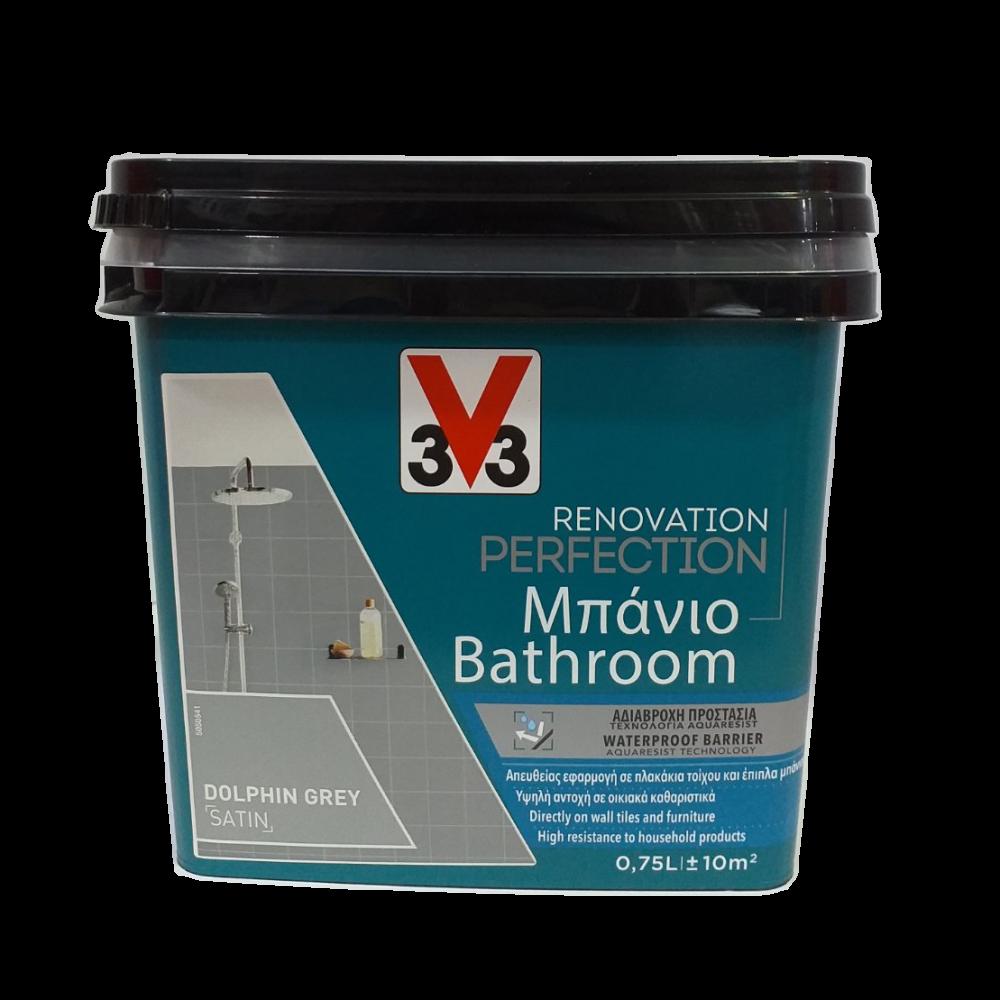RENOVATION PERFECTION BATHROOM PAINT DOLPHIN GREY 750ML V33