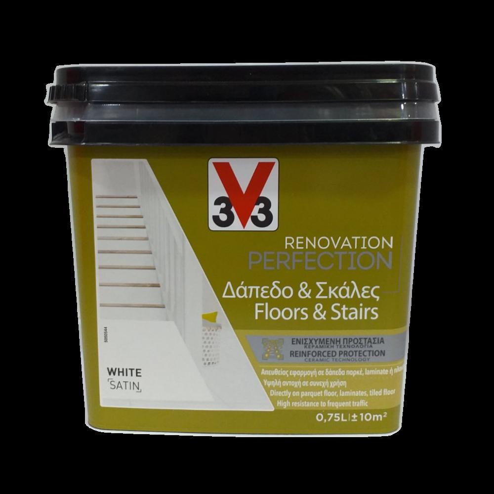 FLOOR & STAIRS RENOVATION PAINT WHITE 750ML V33