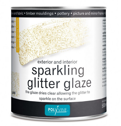 SPARKLING GLITTER GLAZE GOLD 500ML POLYVINE