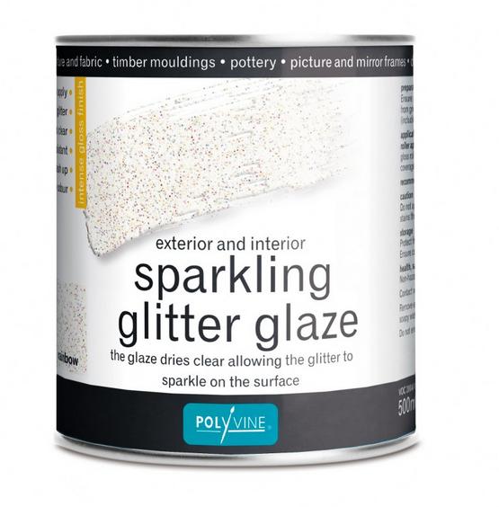 SPARKLING GLITTER GLAZE RAINBOW 500ML POLYVINE