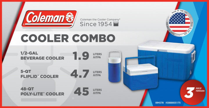 Coleman Combo Cooler (Set of 3 coolers)