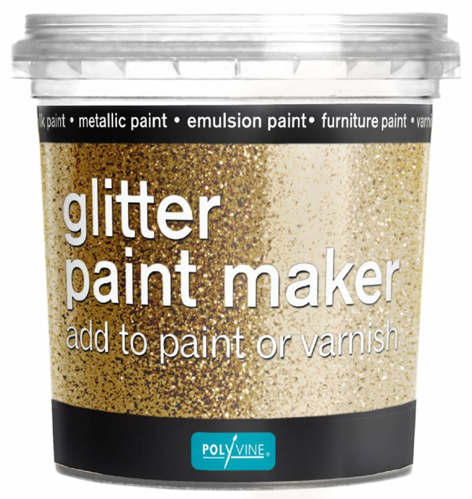 GLITTER PAINT MAKER GOLD 75G POLYVINE