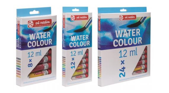 Water Colour Sets of 8, 12 and 24 Colours - 12 colours