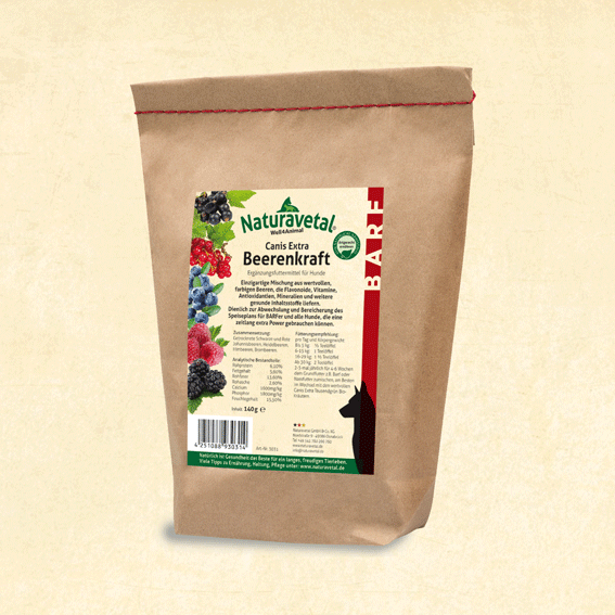 NATURAVETAL Canis Extra Berry Power - 140G