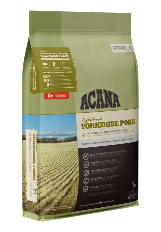 ACANA Singles Yorkshire Pork (All Stages) 11.4kg
