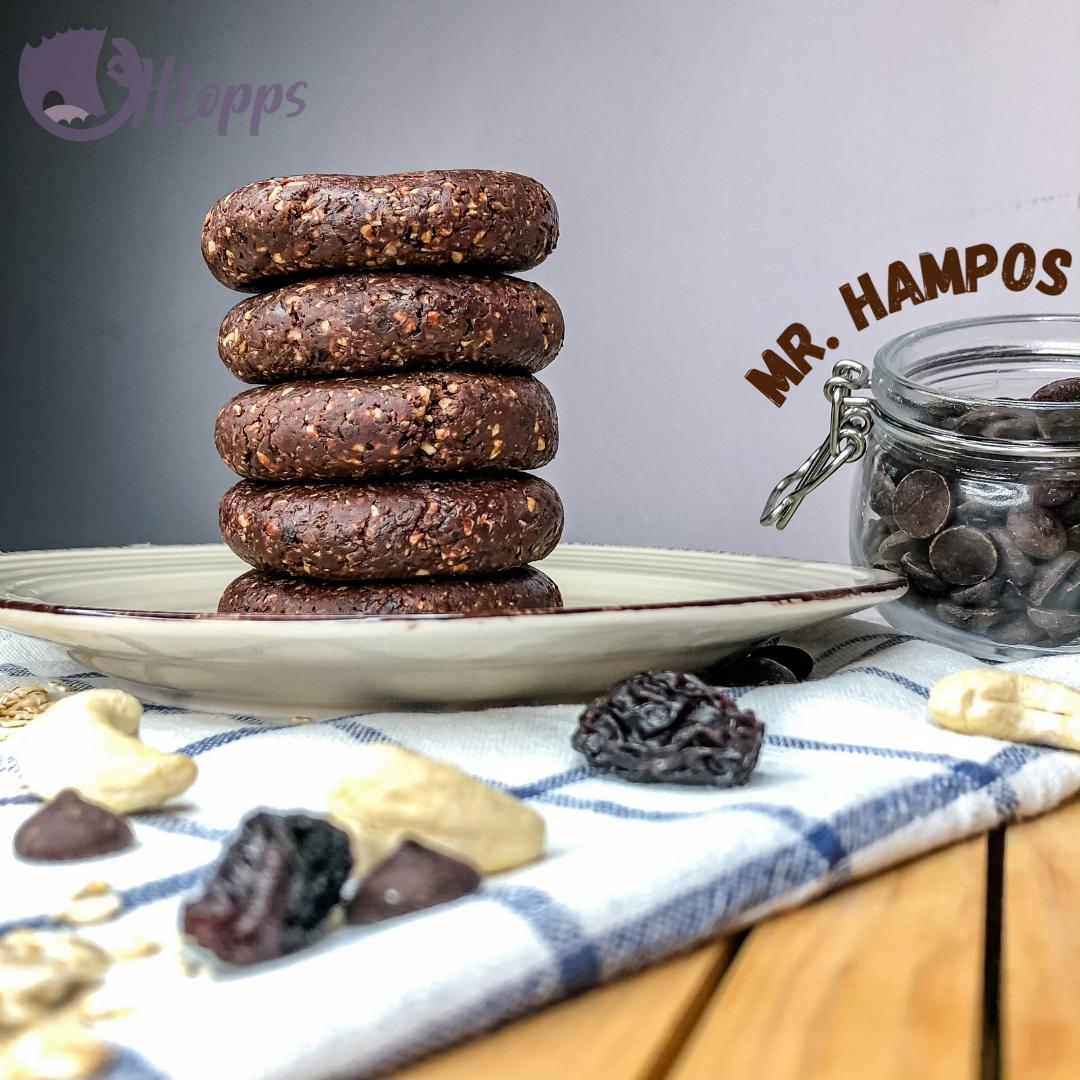 Mr Hampos Healthy Bite with dark chocolate - dark brown 50g