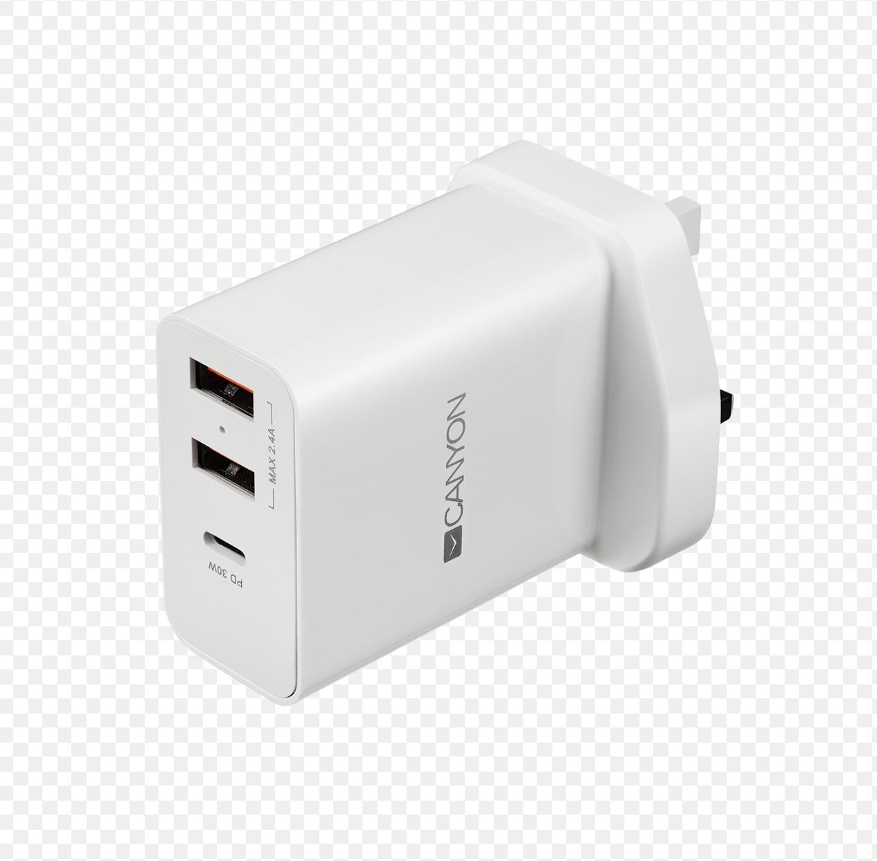CANYON Universal 3xUSB AC charger (in wall/UK)