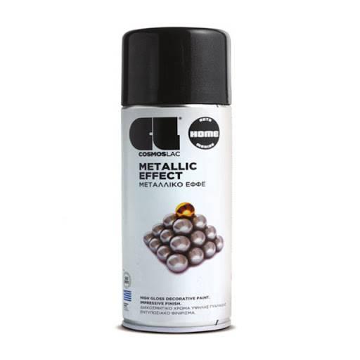 METALLIC EFFECT SPRAY BLACK 400ML (335) COSMOS LAC