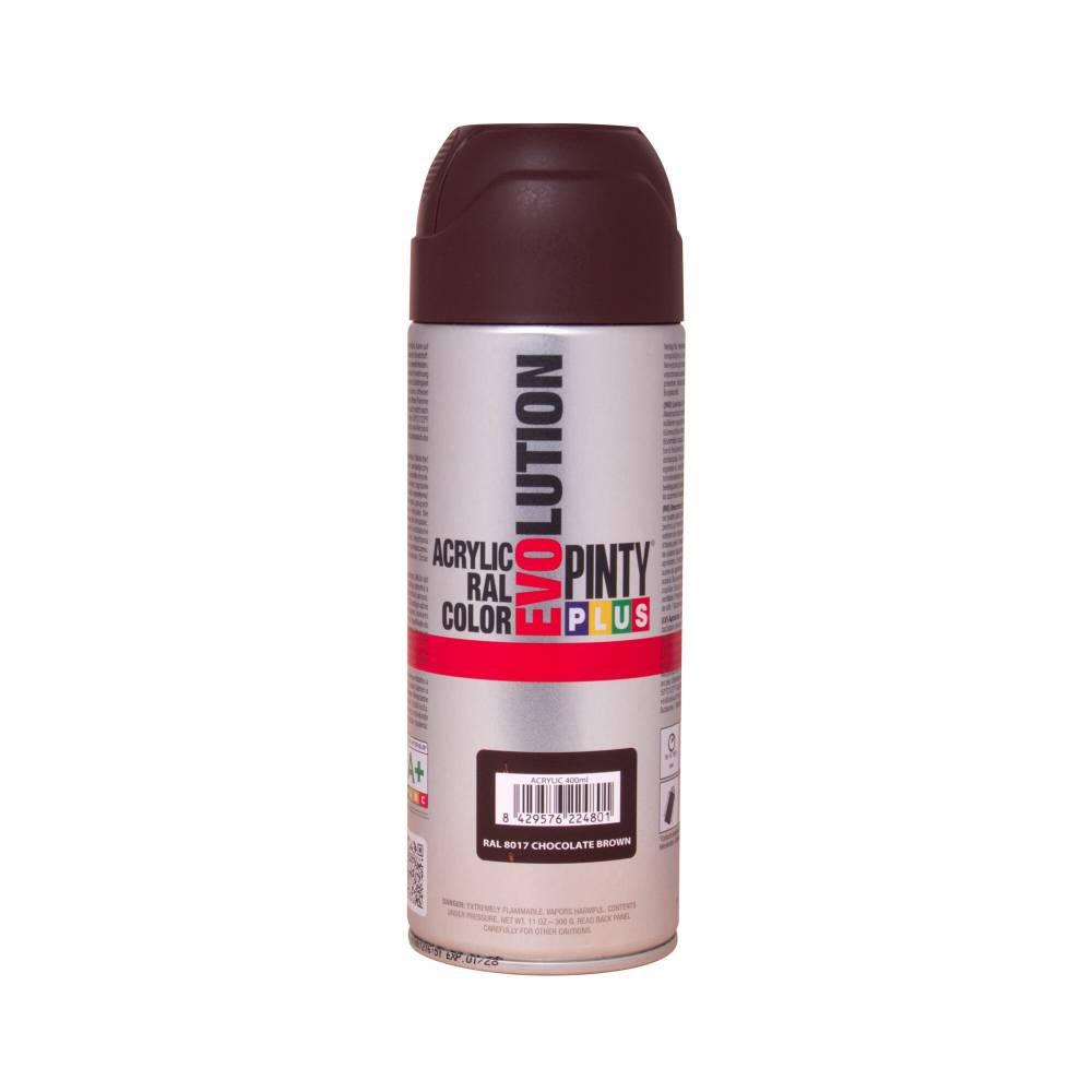 ACRYLIC PAINT SPRAY CHOCOLATE BROWN RAL8017 400ML PINTY PLUS