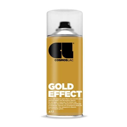 ACRYLIC PAINT SPRAY METALLIC GOLD EFFECT N451 400ML COMOS LAC