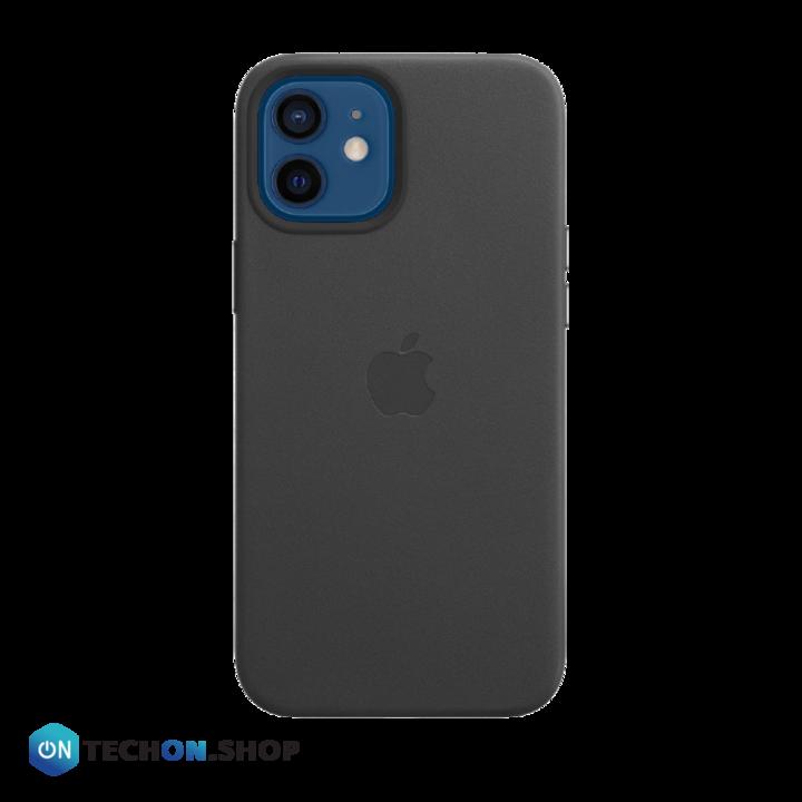 iPhone 12 Leather PU Case - Black