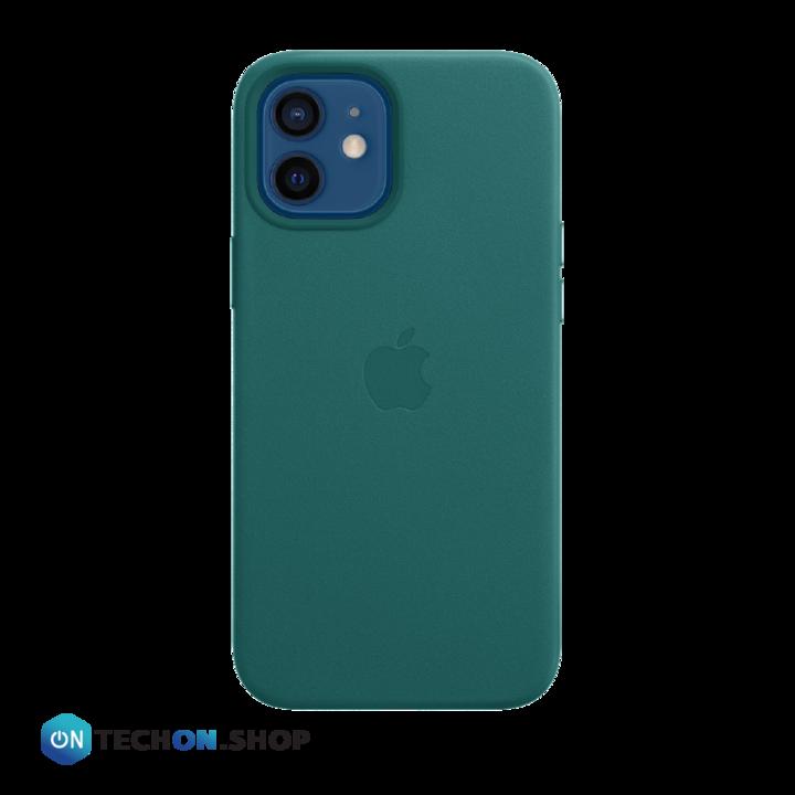 iPhone 12 Leather PU Case - Dark Green