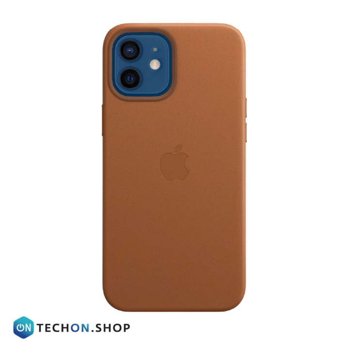 iPhone 12 Leather PU Case - Brown