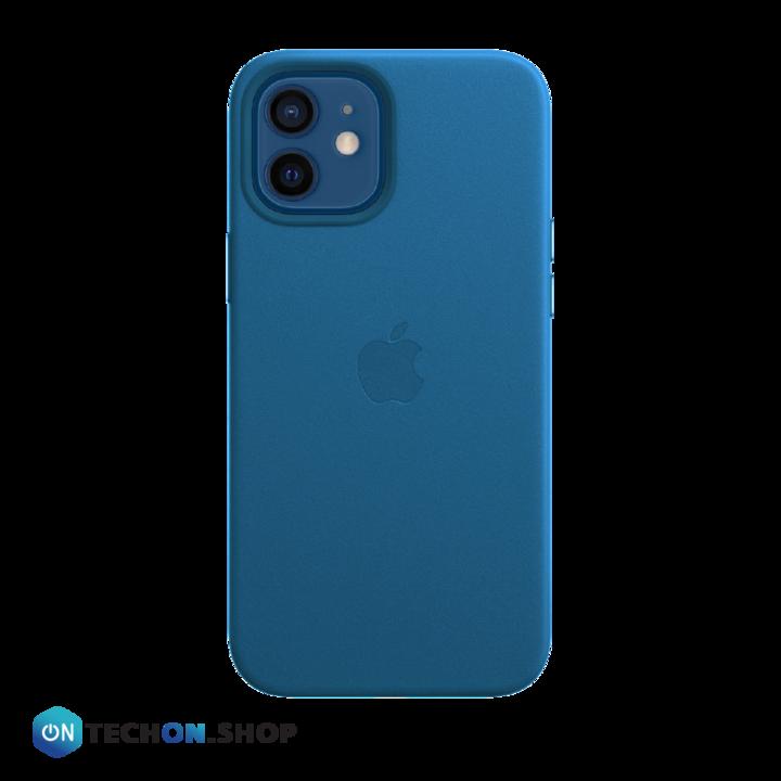 iPhone 12 Leather PU Case - Blue