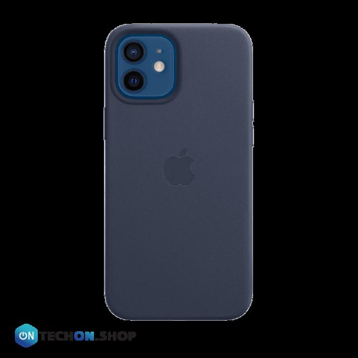 iPhone 12 Leather PU Case - Dark Blue
