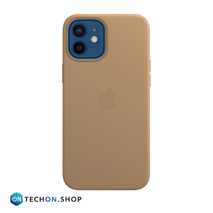 iPhone 12 Leather PU Case - Light Brown